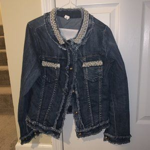 Bedazzled jean jacket